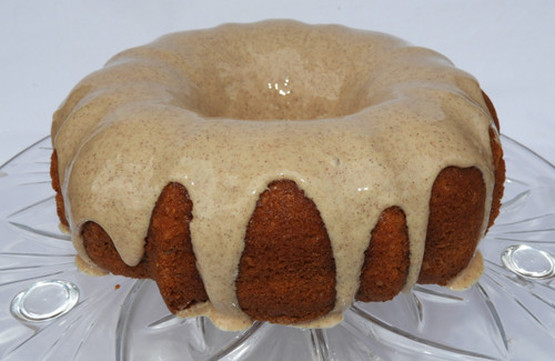 Apple Spice Cake with a cinnamon cream cheese frosting