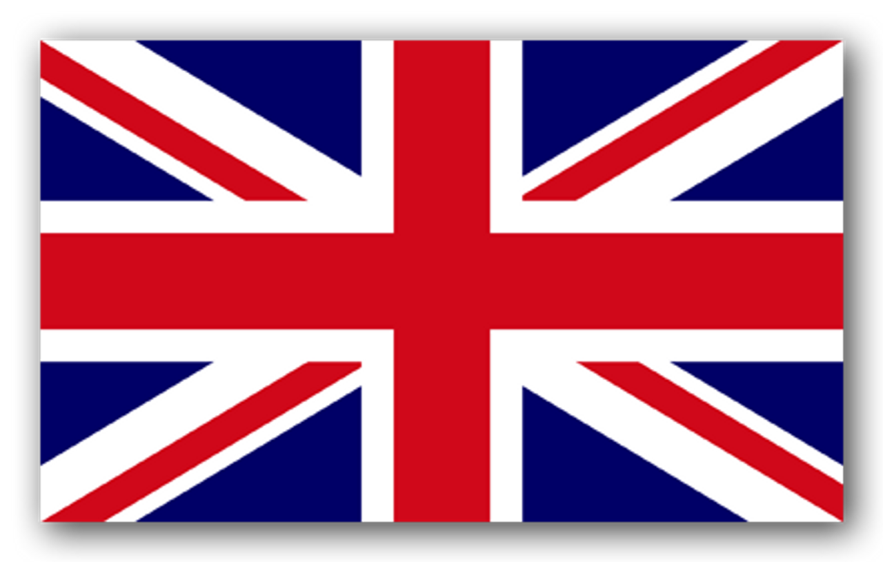 Pack of 4 Small Hand Waving Union Jack Flags United Kingdom Flags