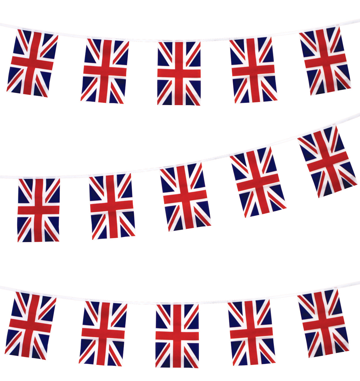 PLAIN RED 3 METRE BUNTING 10 FLAGS flag 3M