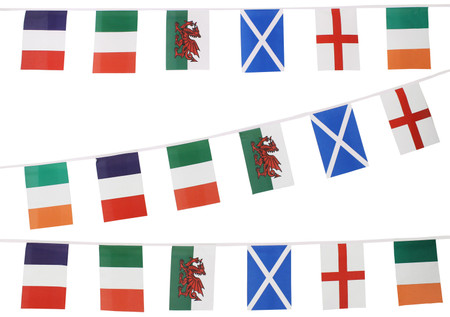 Six Nations Rugby Bunting Flags