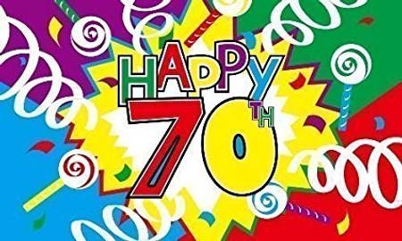 Happy 70th Birthday Flag