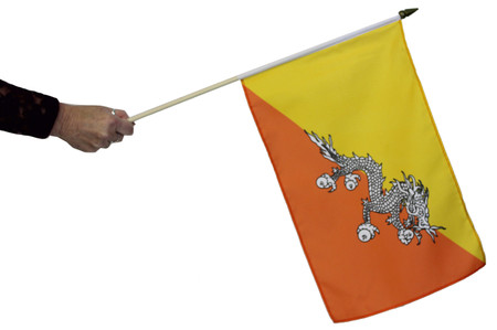Bhutan Waving Flag