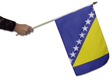 Bosnia Waving Flag