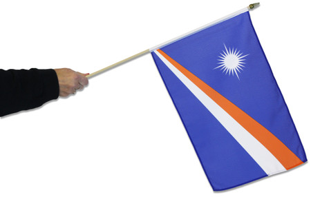 Marshall Islands Waving Flag