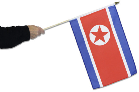 North Korea Waving Flag