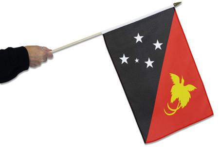 Papua New Guinea Waving Flag