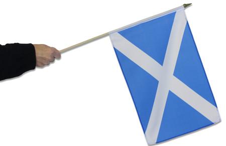 Scotland St Andrew's Cross (Official) Waving Flag