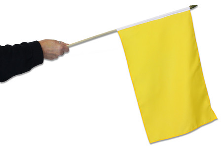 Yellow Waving Flag