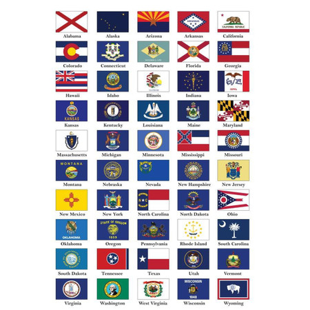 50 American States Flag Pack