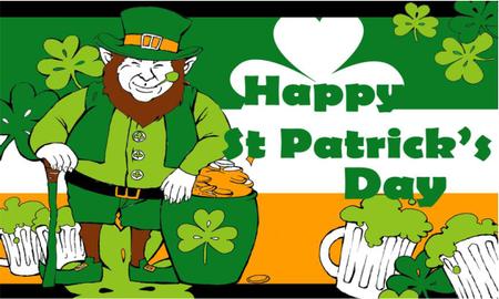 Happy St Patricks Day Flag (Leprechaun)