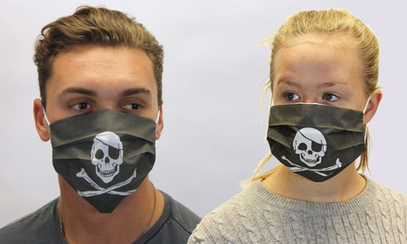 Pirate Skull & Crossbones Face Mask