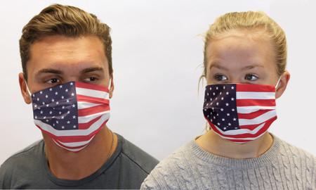 American USA Flag Cotton Face Mask