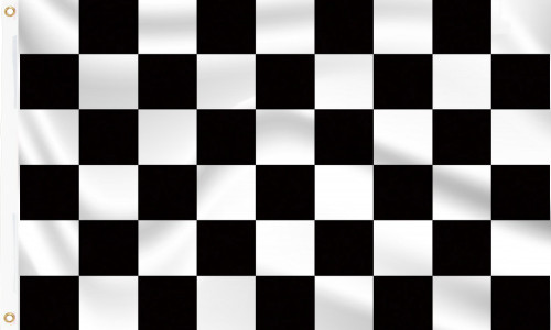 Black & White Chequered Flag to buy online