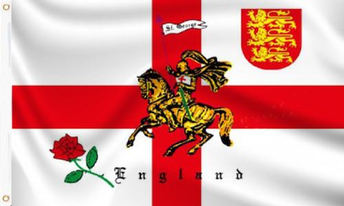 England Rose Lion Flag