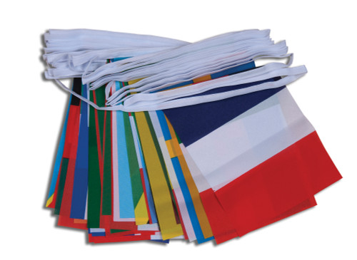 50 Mixed Nations Bunting