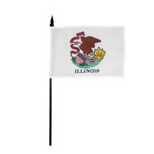 Illinois Desk / Table Flag