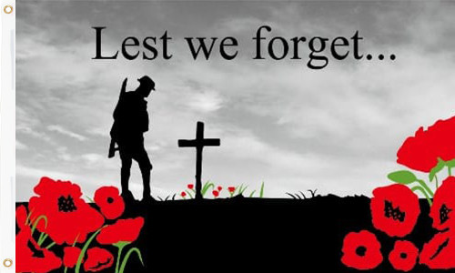 Lest We Forget Flag 5ft x 3ft