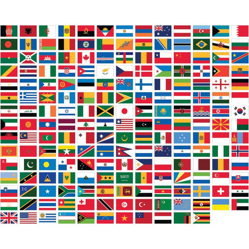 100 Nations Flag Pack - SAVE UPTO £30!