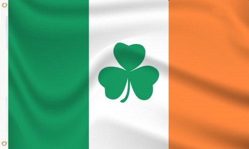 Buy Ireland Flag With Shamrocks from the UK