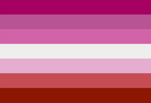7 stripe lesbian Flag