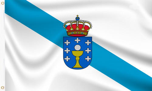 Galicia Flag with Crest