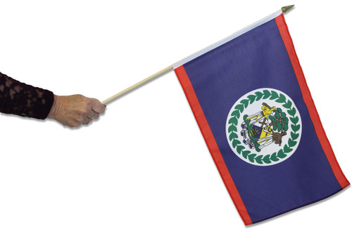 Belize Waving Flag