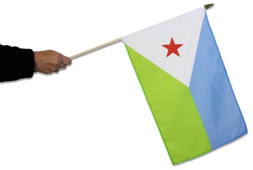 Djibouti Waving Flag