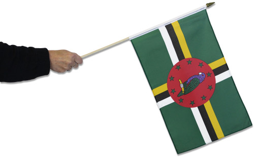 Dominica Waving Flag