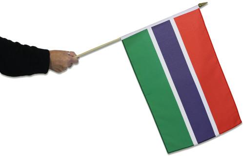 Gambia Waving Flag