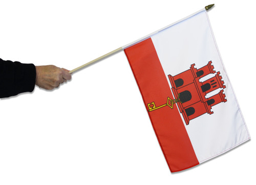 Gibraltar Waving Flag