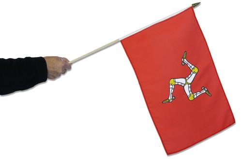 Isle Of Man Waving Flag