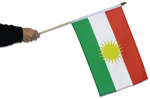 Kurdistan Waving Flag