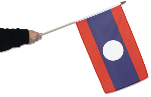 Laos Waving Flag