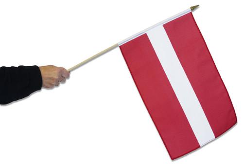 Latvia Waving Flag