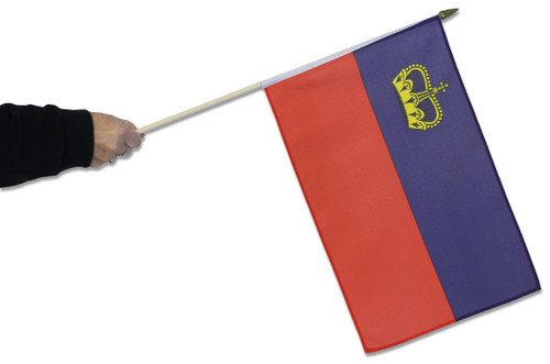 Liechtenstein Waving Flag