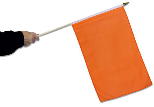 Orange Waving Flag