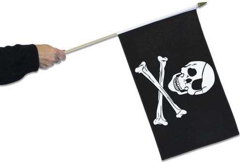Pirate Skull & Crossbones Waving Flag