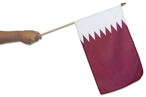 Qatar Waving Flag