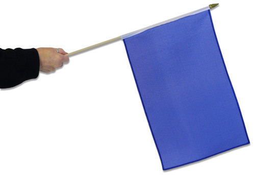 Blue Waving Flag