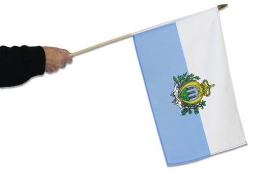 San Marino Waving Flag
