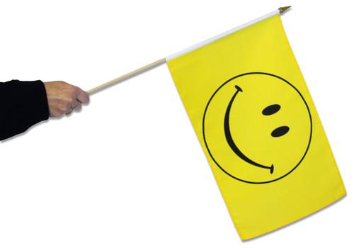 Smiley Waving Flag