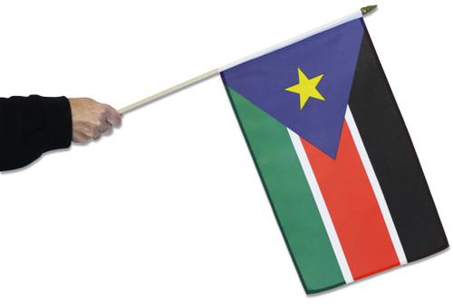 South Sudan Waving Flag