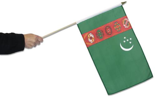 Turkmenistan Waving Flag