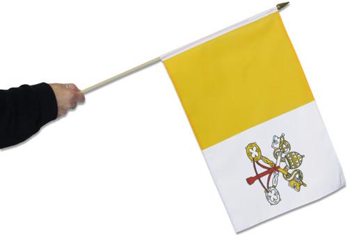 Vatican City Waving Flag