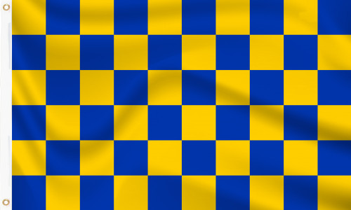 Blue and Yellow Chequered Surrey Flag