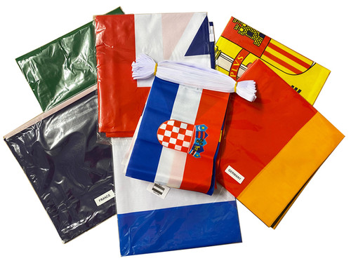 Eurovision Flag and Bunting Party Pack (6 Flags + 1 Bunting)