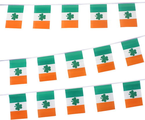 Ireland Bunting with Shamrock