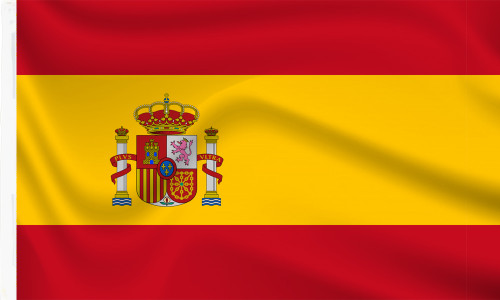Buy Spanish flag with sleeve for sale online