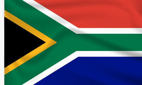 Sleeved South Africa flags to buy