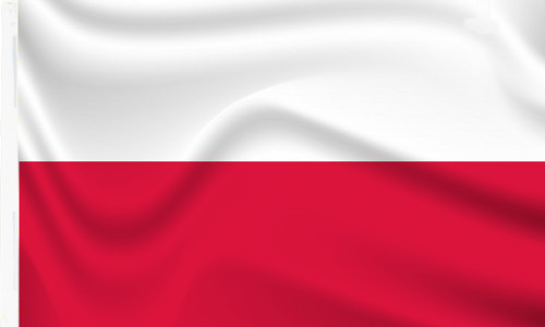 Poland Flag to buy with sleeve